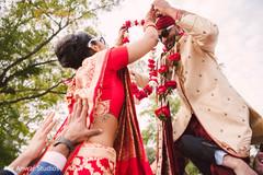 indian groom fashion,indian bride fashion,milni ceremony