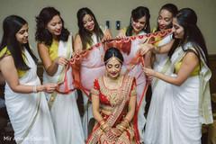 indian bridesmaids' fashion,indian bride fashion,ghoonghat