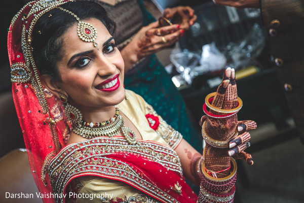 hair and makeup,indian bride,bridal fashion,getting ready