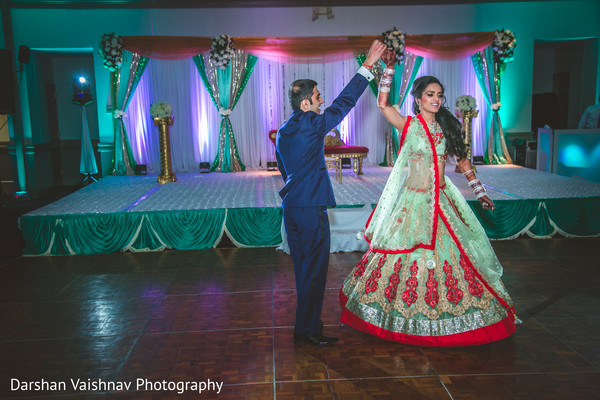 indian wedding reception,floral and decor,dj
