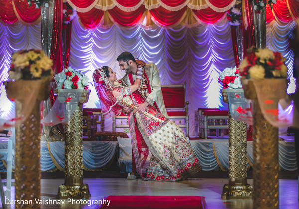 indian bride and groom,floral and decor,indian wedding photography