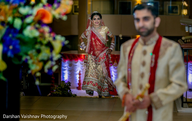 indian bride and groom,first look photography