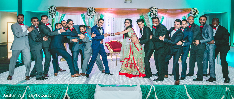 indian groomsmen,indian bride and groom,indian wedding photography