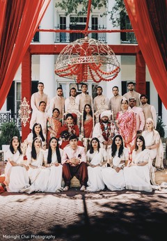 Indian Wedding Family portrait.