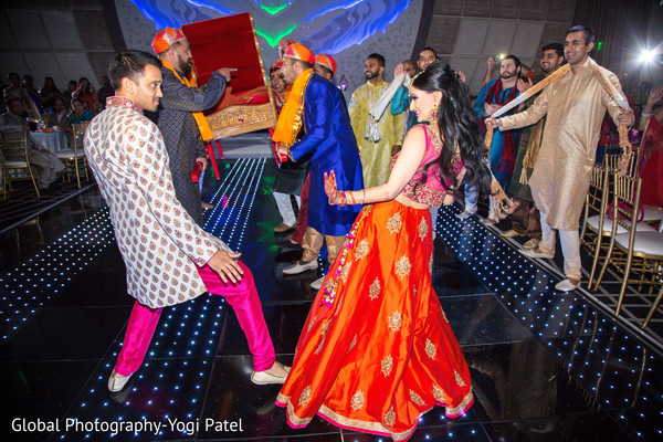 indian bride and groom,sangeet,pre- wedding celebrations,dj and entertainment