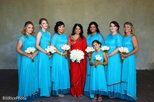 indian bridal party,indian bridesmaids