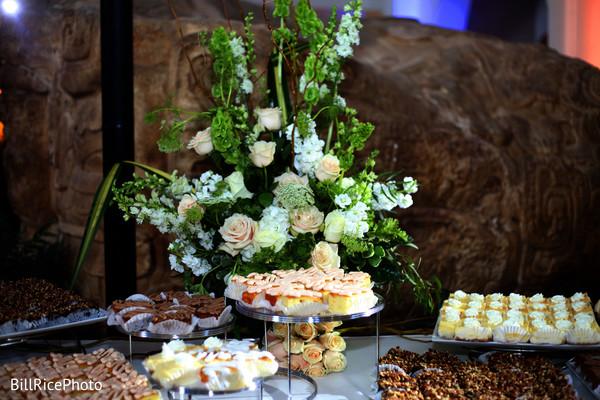 indian wedding reception,cake and treats,treats