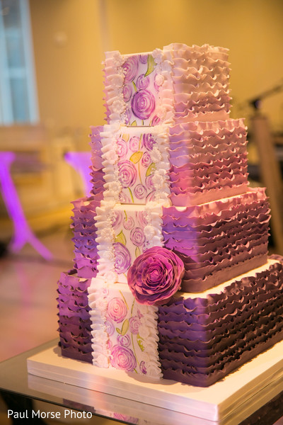 Marvelous indian wedding ombre cake