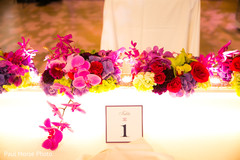 indian wedding decor,indian sweethearts table,indian wedding floral and decor