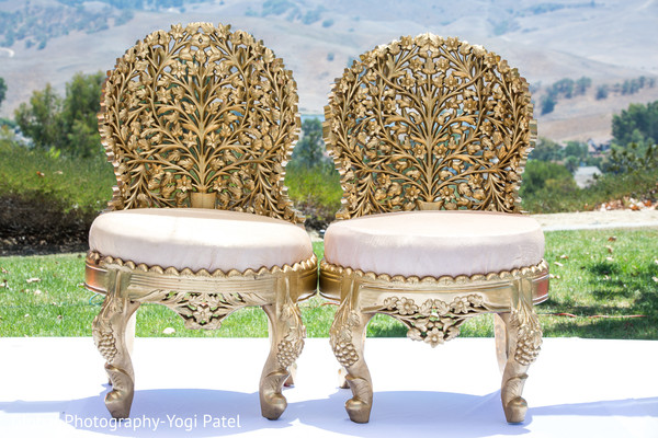 Exquisite Indian wedding ceremony seats.