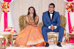 indian bride and groom,indian wedding reception,reception fashion