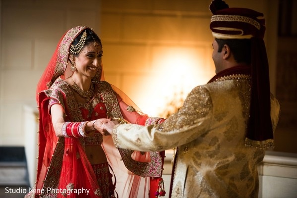 indian bride fashion,indian groom fashion,indian bride and groom,first look photography