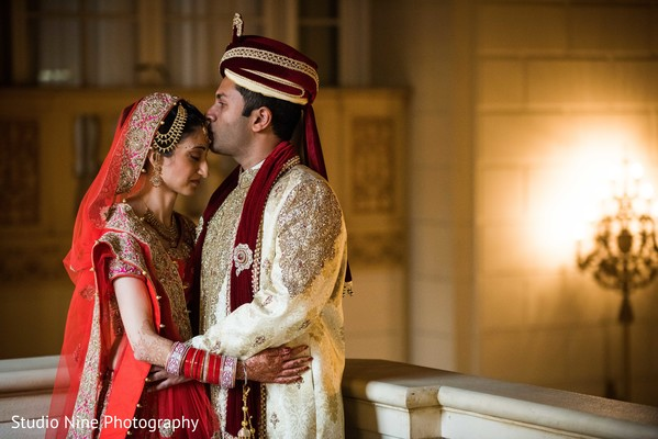 first look photography,indian bride and groom,indian groom fashion,indian bride lengha