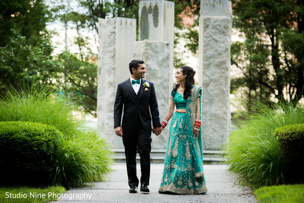 indian bride and groom,outdoor photography,indian bride lengha,indian groom suit