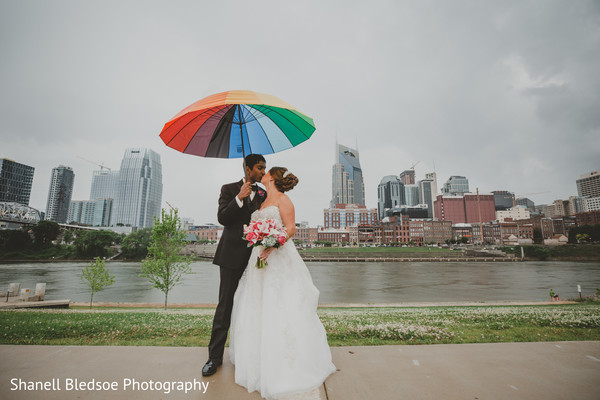 Indian bride and groom's outdoor photography