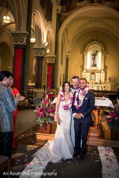indian bride,indian groom,christian wedding ceremony,jaimala