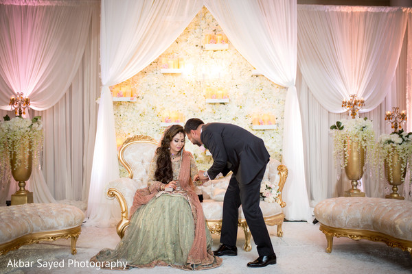 Indian bride fashion indian groom suit indian wedding receptionMaryland and Virginia Pakistani Wedding by Akbar Sayed Photography  . Pakistani Wedding Room Decoration. Home Design Ideas
