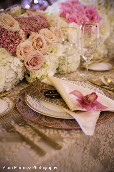 Dazzling indian wedding reception table decor