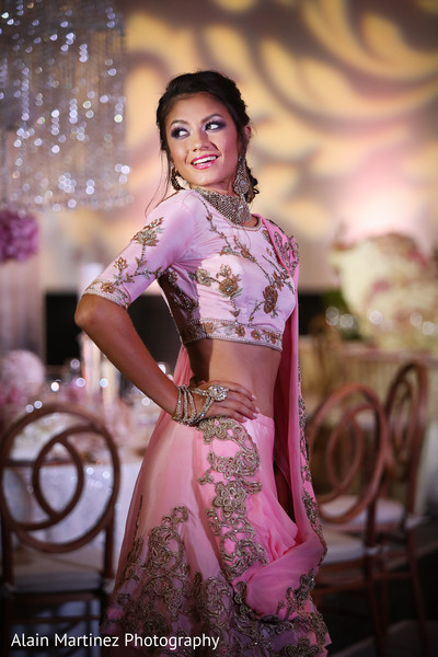 Stunning indian bride in an embroidered lengha