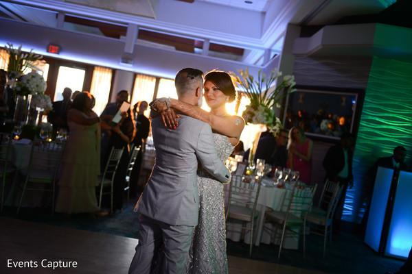 dj,lightning,indian wedding reception,indian bride and groom