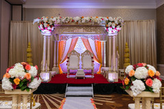 indian wedding ceremony,floral and decor,mandap,lightning