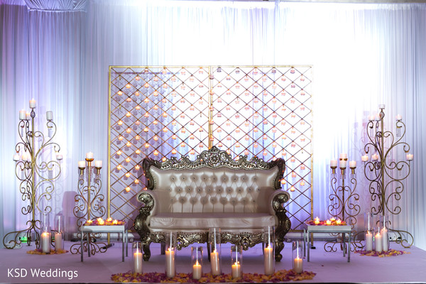 indian wedding reception,wedding stage,floral and decor