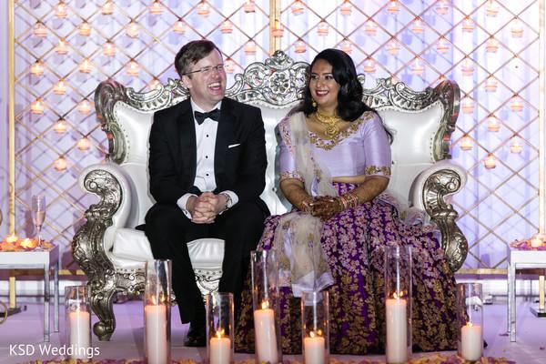 Indian newlyweds having fun in Hauppauge, NY Fusion Indian Wedding by KSD Weddings