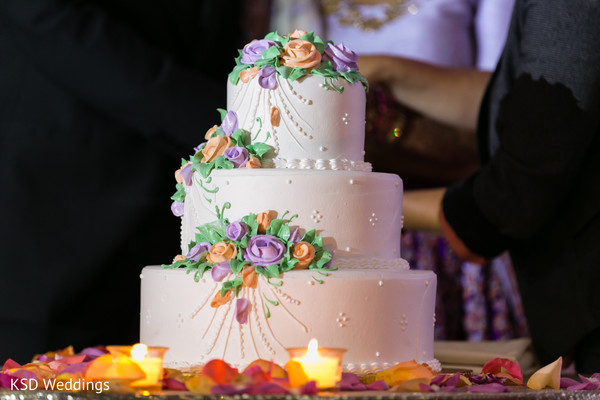 Gorgeous indian wedding cake in Hauppauge, NY Fusion Indian Wedding by KSD Weddings