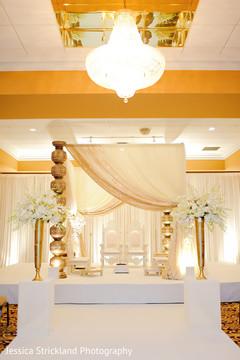 Elegant indian wedding ceremony mandap decor