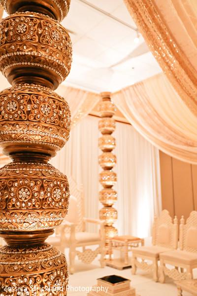 Indian wedding ceremony mandap