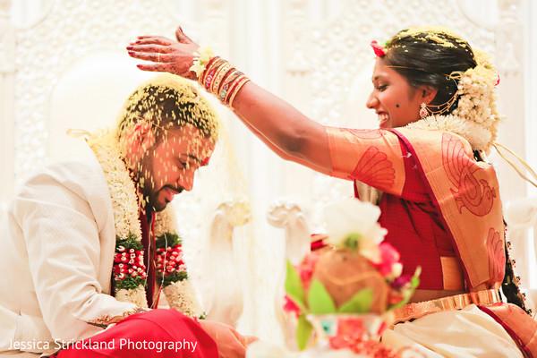 Indian bride and groom telugu ritual