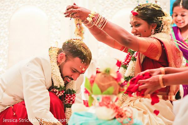 Sweet indian couple during telugu ritual