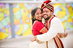 indian bride and groom,outdoor photography,indian groom fashion,indian bride fashion