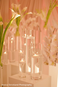 Elegant glass candle holders