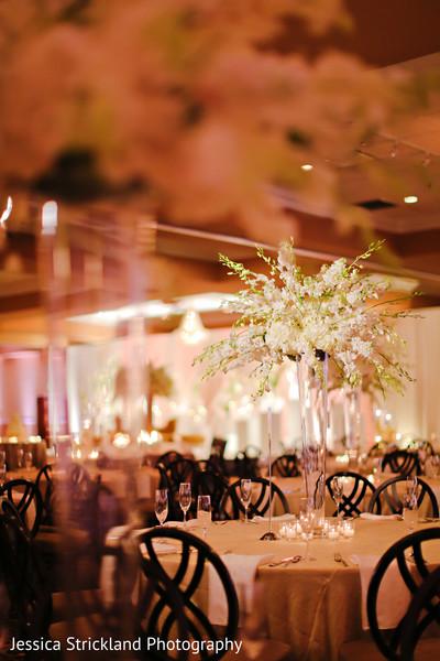 Indian wedding reception floral centerpiece