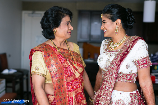 Indian bride candid shot.