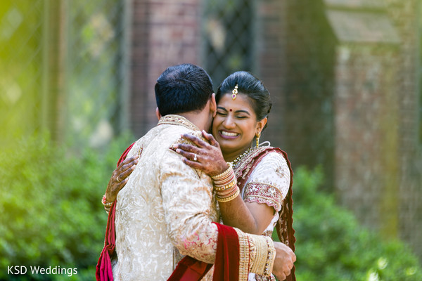 Indian bride and groom treasured moments.