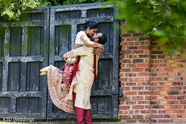 Adorable Indian bride and groom photography.