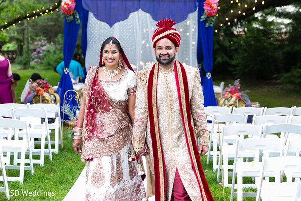 Just married Indian couple.