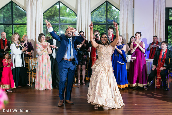 indian wedding reception,dj,indian bride and groom