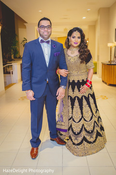 indian bride and groom,reception fashion