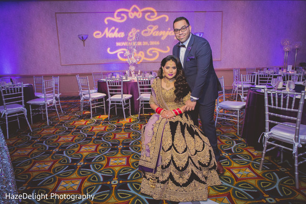 indian wedding reception,indian bride and groom,reception fashion