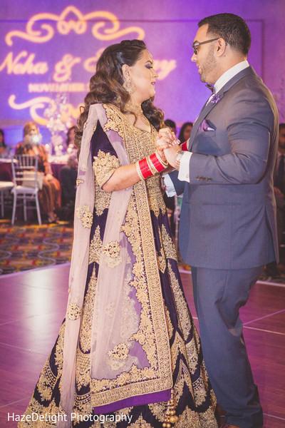 ppurple lengha,gold and purple lengha,indian bride fashion