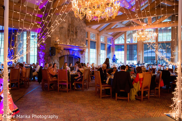 Indian wedding reception soiree. in Snowbasin, UT Fusion Indian Wedding by Claire Marika Photography