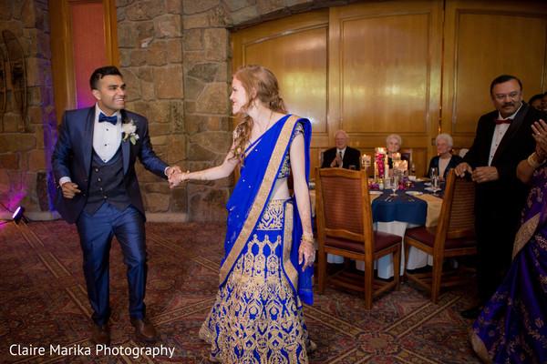 indian wedding reception,indian bide and groom