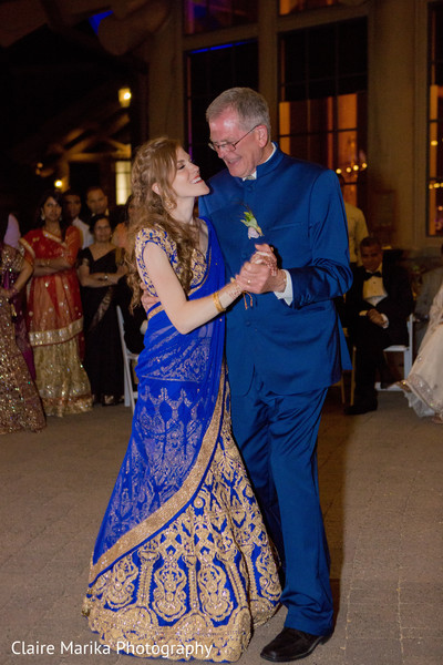 Traditional father and daughter dance. in Snowbasin, UT Fusion Indian Wedding by Claire Marika Photography