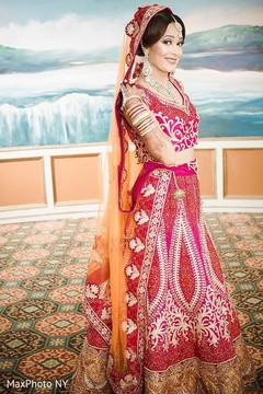 indian bride,indian bride hair and makeup,bridal jewelry,indian bride lengha