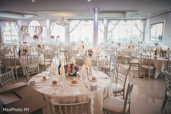 Elegant indian wedding reception decor in Jamaica, NY Indian Wedding by MaxPhoto NY