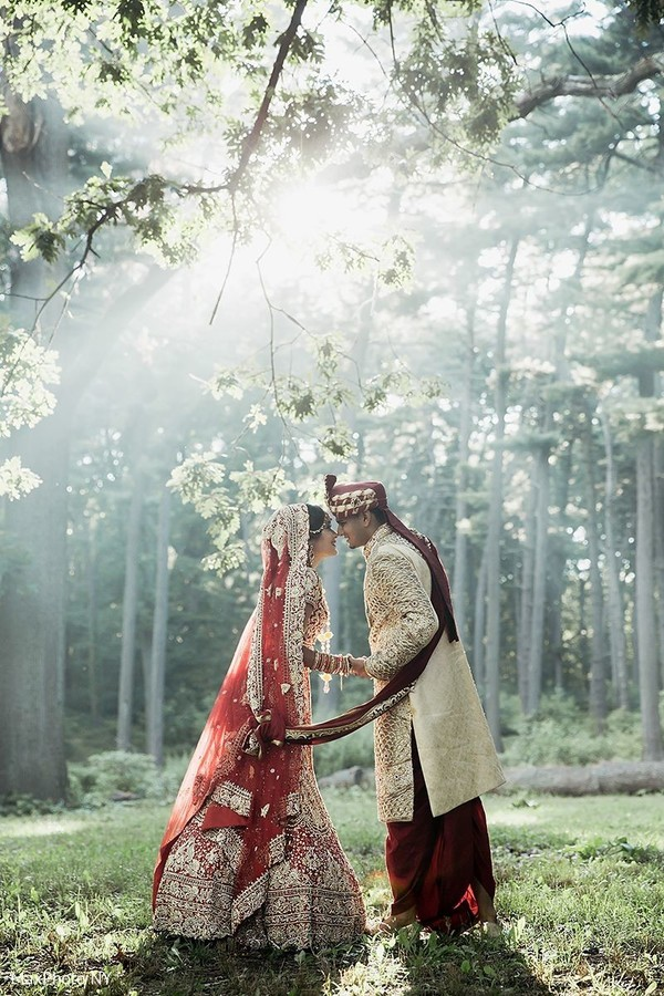 indian bride and groom,outdoor photography