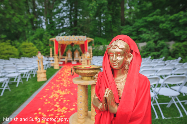 indian wedding ceremony,outdoor ceremony,floral and decor